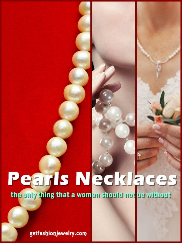 Pearl Necklace. Pearls Are Incredibly Adaptable, And Due To Their Soft, Light Hue, Match Superbly With Any Color. #pearls